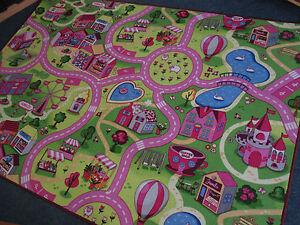 Details Zu Spiel Kinder Teppich Strasse Sweet Girls Madchen Verschiedene Abmessungen Rund