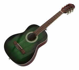 3204f87a2e Image is loading Kids-Classical-Guitar-Green-acoustic-Pack-half-size-