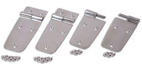 Registrazione carrozzeria v2a porta a cerniera 6 pezzi v2a türscharniere in acciaio inox