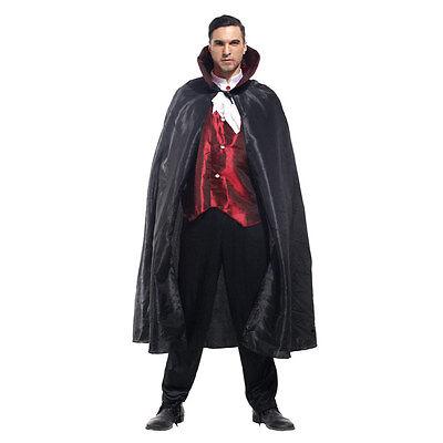 Deluxe Adult Mens Vampire Dracula Costume Nosferatu Horror Fancy Dress Halloween