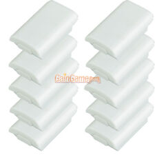 100X Battery Pack Cover Shell Case Kit for Xbox 360 Controller White US