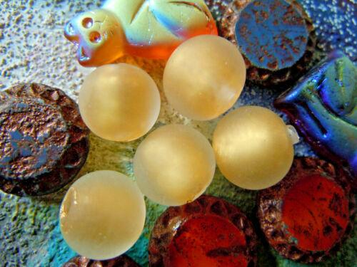 Neue kleine,goldgefüllte 10mm aus Italien mattierte Clear Murano-Perle