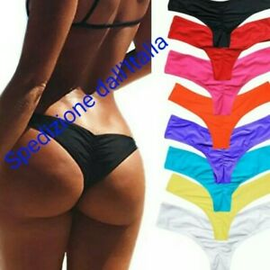 Bikini-Costume-Mare-arricciato-Bagno-Spiaggia-Sexy-Tanga-Perizoma-brasiliana