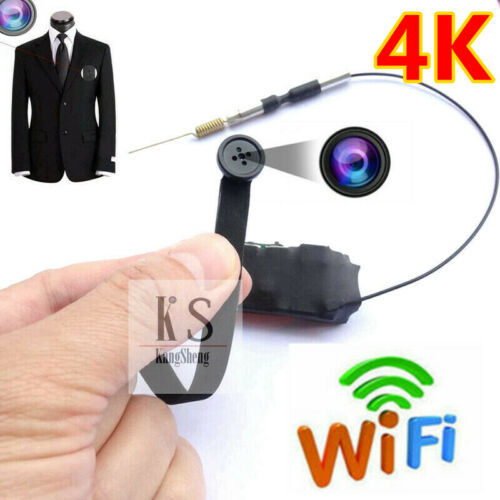 HD 4K wireless camera WIFI IP button hole network recorder built-in battery