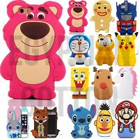 For iPhone Models TOY CASES Collection 3D Cute Cartoon Funny Soft Gel Case Cover
