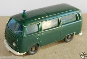 B-Micro-Wiking-Ho-1-87-VW-Volkswagen-Combi-T2-Polizei-Police-Green-Flashing