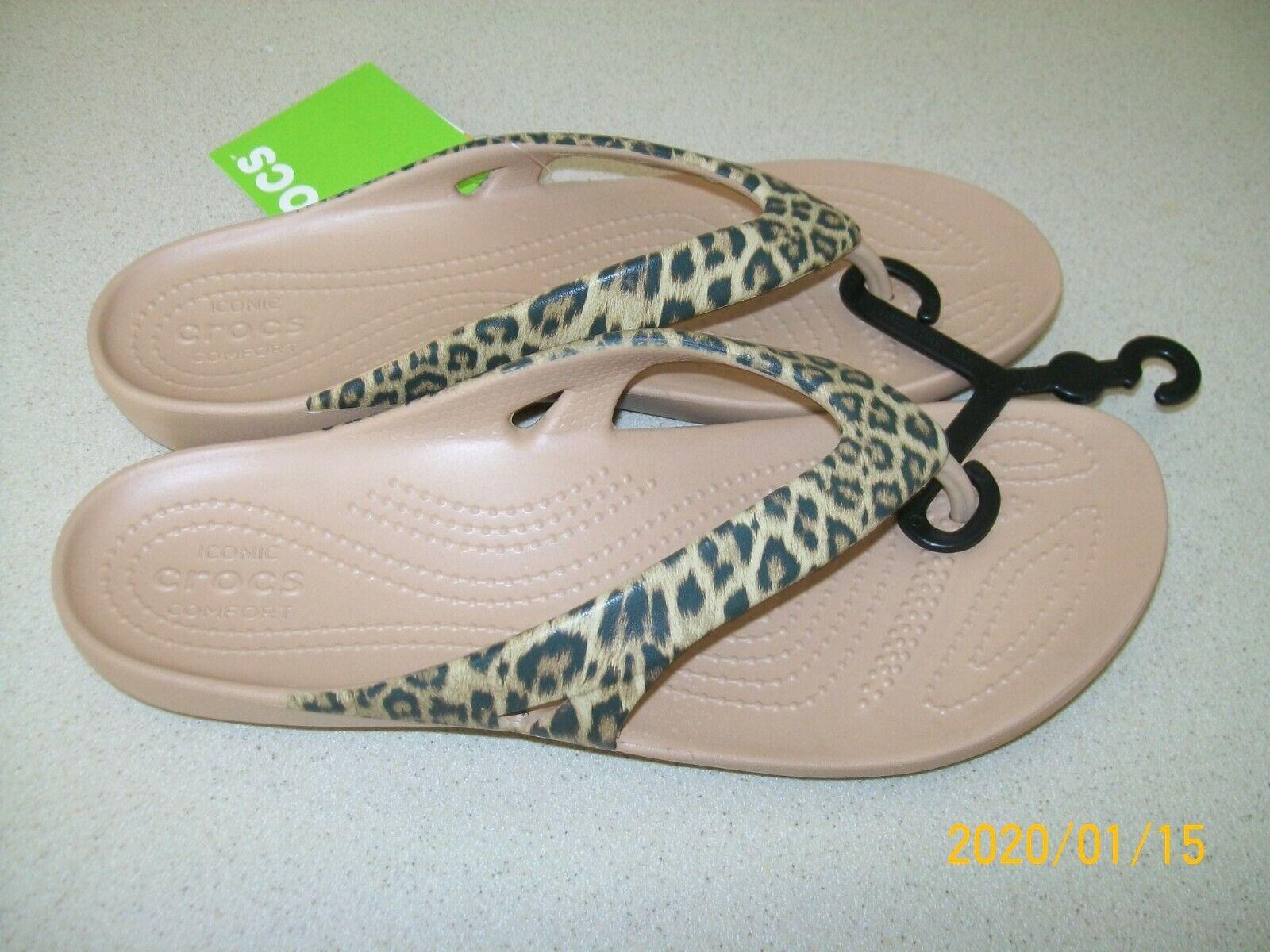 Crocs Kadee II Leopard Print Flip-Flop