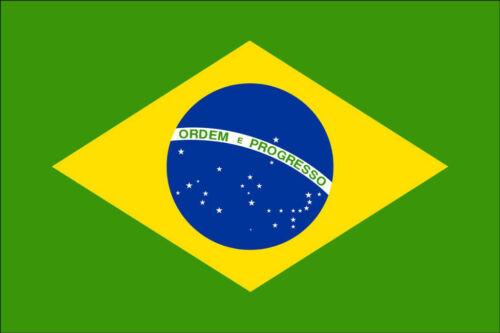 CAR VAN CLASSIC 140X95MM BRAZIL FLAG PRINTED DECAL STICKER