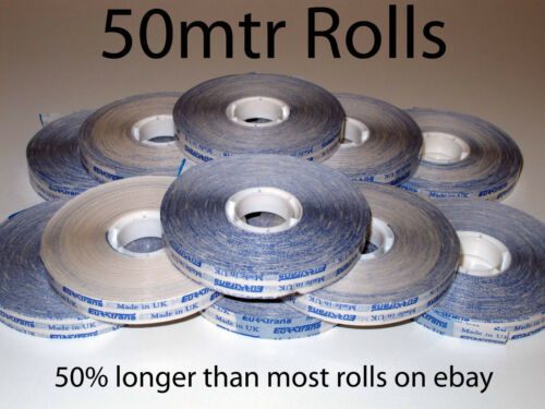 12 Rolls of 12mm ATG Tape x 50mtrs Double sided adhesive transfer tape