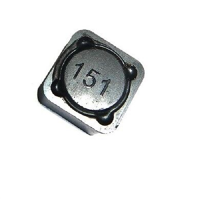 10pcs SMD SMT Surface Mount Power Inductor 150uH 151 12x12x7mm 3A DIY New