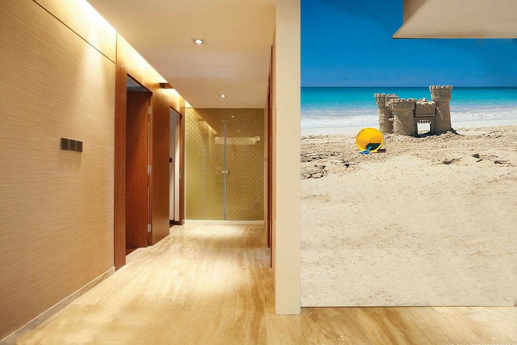 3D Sand Beach Castle 4 Wall Paper Wall Print Decal Wall Deco Indoor Mural Summer