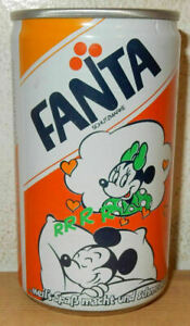 1987 FANTA DISNEY MICKEY MOUSE Can from GERMANY (33cl) (empty) 02
