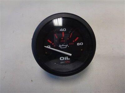 TELEFLEX OIL PRESSURE GAUGE 1072870 BLACK FACE MARINE BOAT