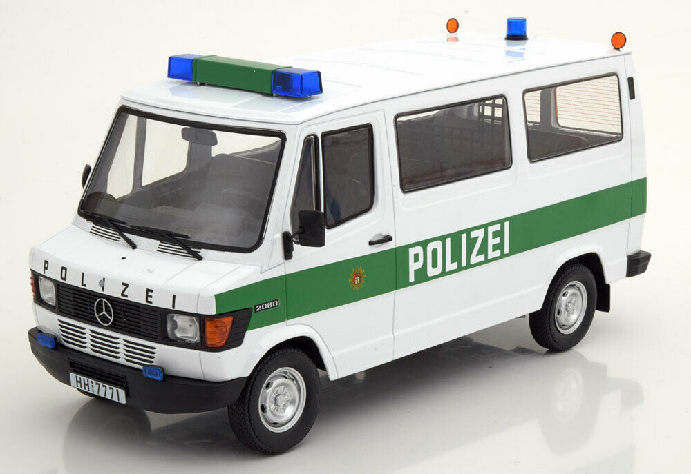 KK scale kkdc 180292 mercedes 208d bus 1988 Police hamburgo blanco Verden