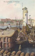 SCARBOROUGH - THE LIGHTHOUSE & FISHING BOATS BY PELHAM