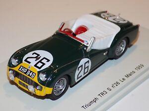 1-43-Spark-Triumph-TR3-S-car-26-24-Hours-Le-Mans-1959-Bolton-Rothschild-S1396