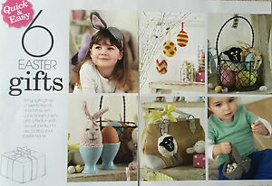 6 easter gifts knitting pattern bunny ears hanging eggs creme egg image is loading 6 easter gifts knitting pattern bunny ears hanging negle Gallery