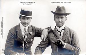 Uhlenmuth-Coburg-August-Wilhelm-amp-Oskar-von-Preussen-1908-Vintage-silver-pri