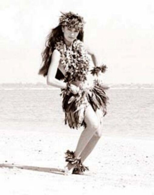 "Kim Taylor Reece ""Kalei"" 11 X 14 Double Matted Hawaiian Hula Print - New"