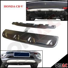 Matte Edelstahl Rammschutz Diffusor Set Vorne + Hinten Honda CR-V IV ab 2012