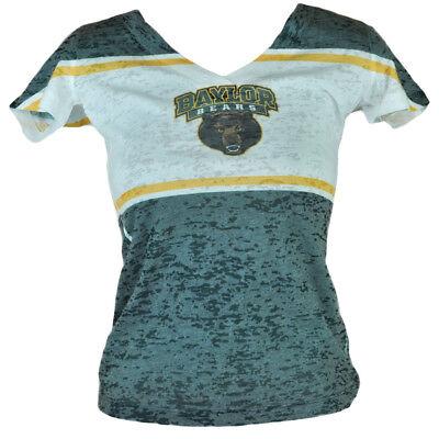 Gehorsam Ncaa Baylor Bären Damen V-ausschnitt T-shirt Distressed Kurzärmelig Grün HeißEr Verkauf 50-70% Rabatt Fanartikel