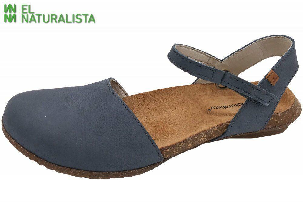 El Naturalista WAKATAUA Sandale blau Schuhe Leder N412-LP-Vaquero