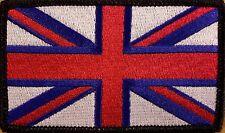 UK UNITED KINGDOM Flag Patch With VELCRO® Brand Fastener Morale Unique I