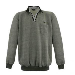 Details zu Lavecchia Herren Sweatshirt Zipper Troyer grau LV 15 208