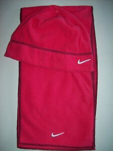 c29916aa174 Nike Hat Scarf Set Girls Winter Fleece Warm Pink Sz 7-16 NWOT