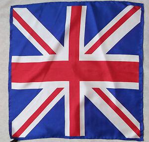Fazzoletto-Seta-Quadrato-da-Taschino-Uomo-Union-Jack-Gran-Bretagna