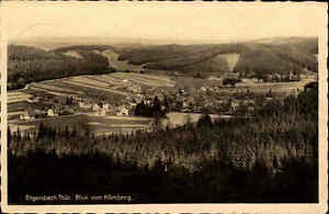 Engelsbach-Thueringen-Postkarte-1942-gelaufen-Gesamtansicht-Blick-vom-Koernberg