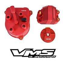 VMS RACING RED DISTRIBUTOR CAP + ROTOR + EXTERNAL COIL FOR 92-97 HONDA ACCORD