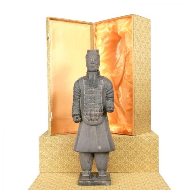 Htdeco - Officier - Statuette soldat Chinois Xian en terre cuite