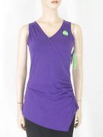 Gaiam Divine Faux Wrap Yoga Tank Top Purple Xs 9518 Tr