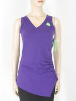 Gaiam Divine Faux Wrap Yoga Tank Top Purple Xs 9518 Tr