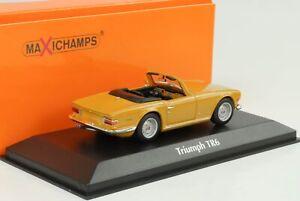 1968-Triumph-TR6-Beige-Marron-1-43-Maxichamps-Minichamps