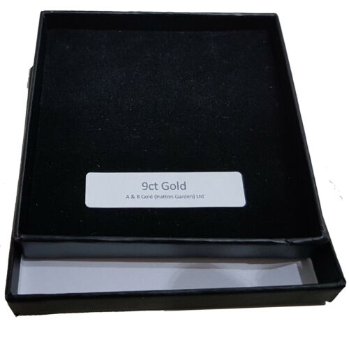 """Solid 9ct Yellow Gold Initial /""""E/"""" 10.5 mm Tall with Gold Trace Chain in Gift Box"""