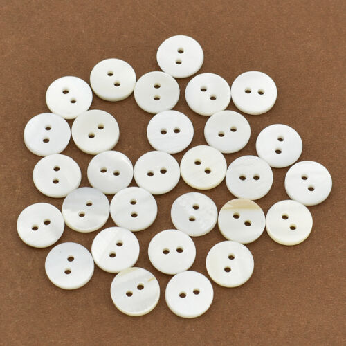 12mm 4 Hole//2 Hole Round Shell Bottons Sewing DIY  Scrapbooking Doll Handcraft
