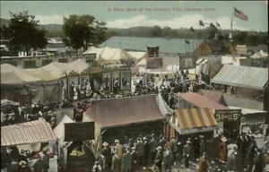 Danbury-CT-Fair-Crisp-View-of-Signs-Amusements-c1910-Postcard