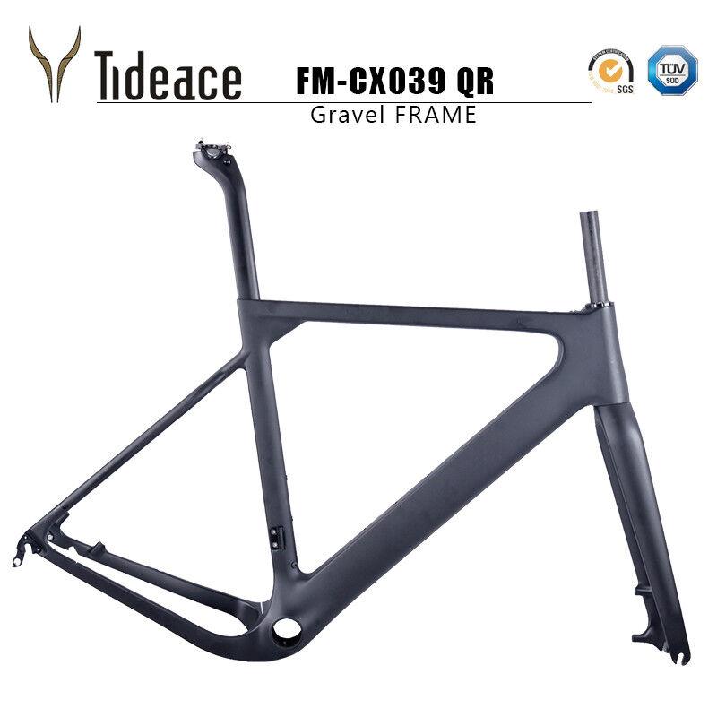 Full Carbon Gravel Bike Frames T800 Carbon Fiber Bicycle Frames 700C or 27.5er