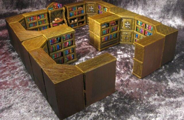 Pieza Master Biblioteca thomarillion Sin Pintar Resina Dwarven Forge D&D