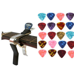 Quick-Release-Acoustic-Electric-Guitar-Capo-Trigger-with-Pick-Holder-30-Picks