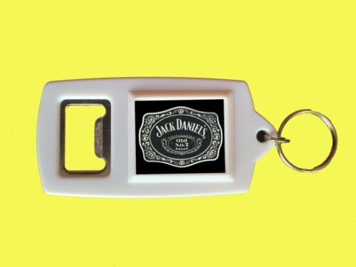 JACK DANIELS BOTTLE OPENER KEYRING WHITE FREE UK P/&P BIRTHDAY DAD GRANDAD NEW