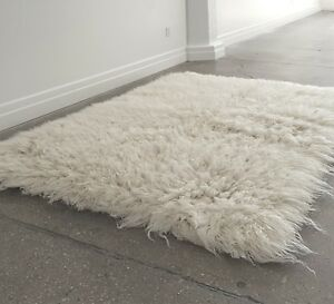 Details About The Best 4 X 6 White Flokati Rug Made Ultra Plush 5 Wool Pile 100
