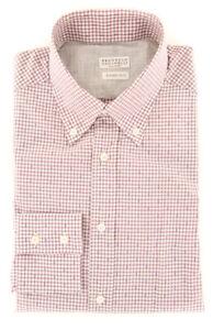 Brunello Cucinelli Burgundy Red Micro-Check Shirt Full S/s (MGBURGC37)