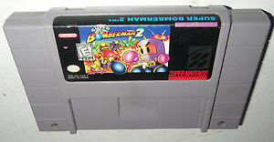 Super-Nintendo-Game-SUPER-BOMBERMAN-2-Cleaned-Tested-Works-Fun-SNES-II-Bomber