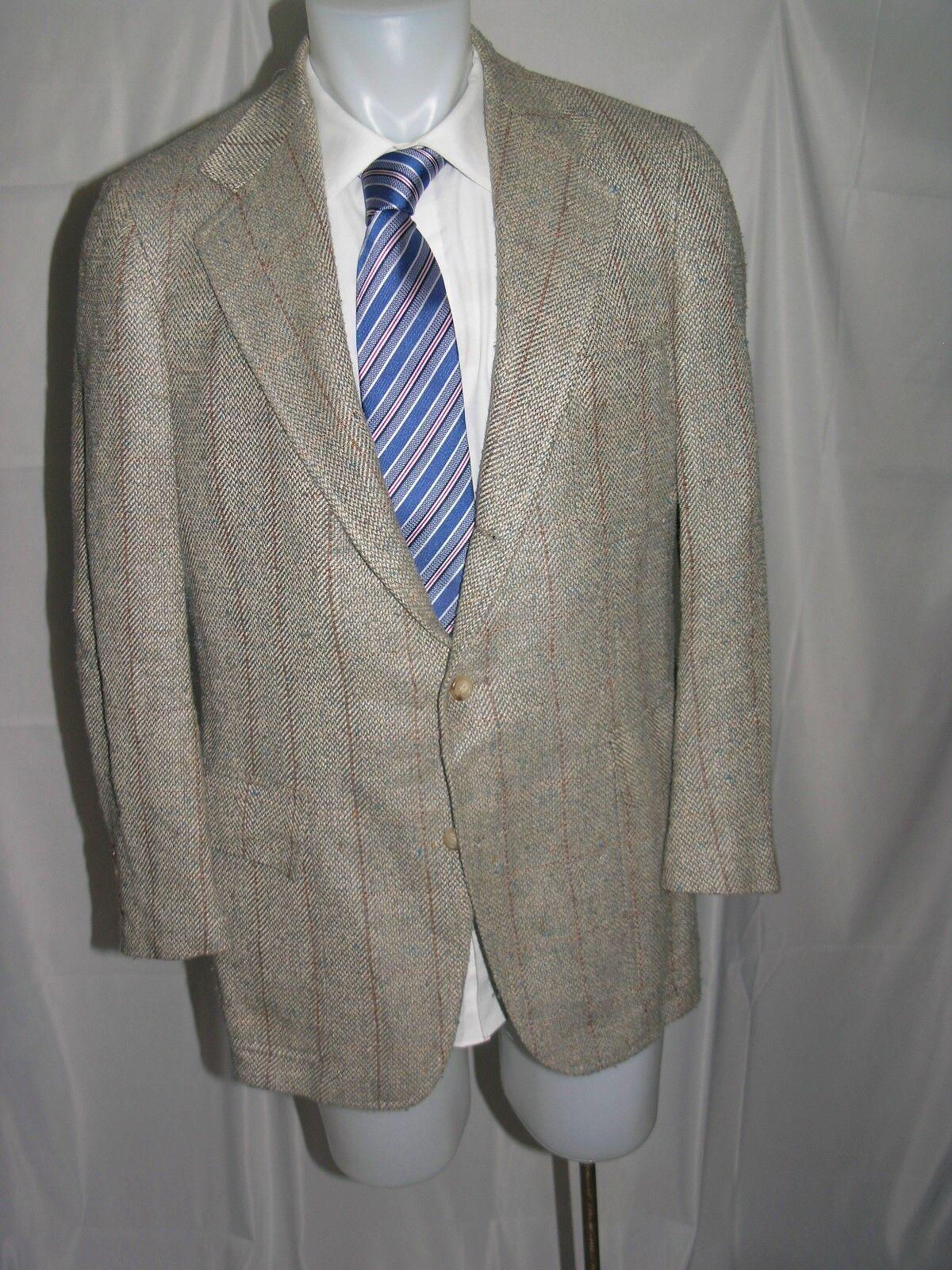 Polo Ralph Lauren bluee Label Vintage Three Roll Two Tweed Blazer 42 L