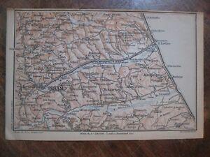 Cartina Geografica Provincia Di Teramo.Stampa Antica Mappa Abruzzo Teramo Giulianova Cellino Civitella Del Tronto 1920 Ebay
