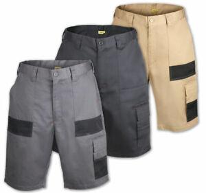 Herren-Arbeitshose-kurz-Arbeitsshort-Short-Robuste-Qualitaet-Arbeitskleidung-Oko