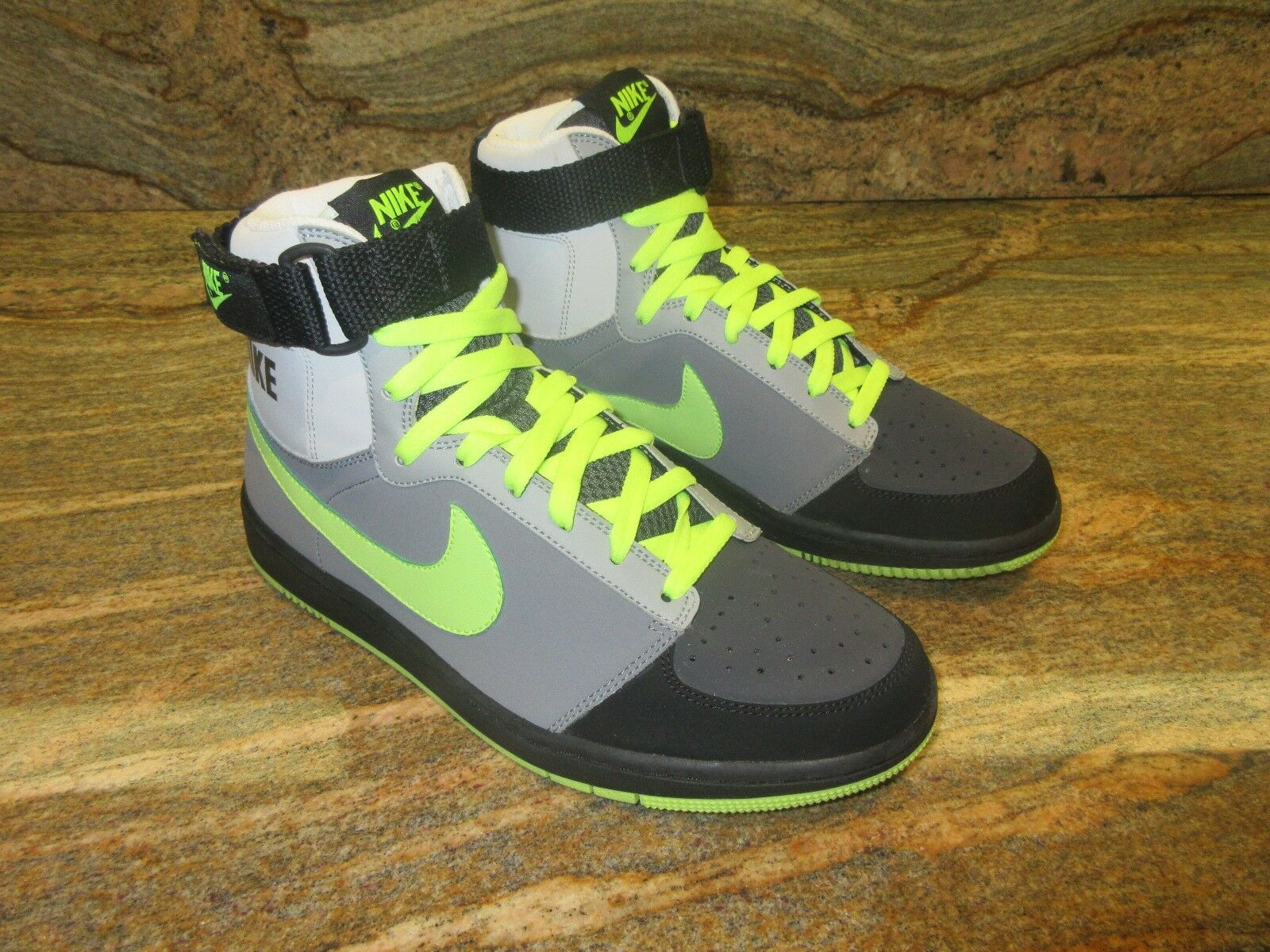 2008 Unreleased Nike Dynasty High LE Sample SZ 9 Black Neon 112 Pack 365963-171
